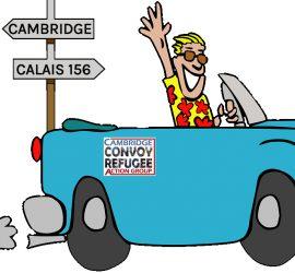 Cartoon car to calais