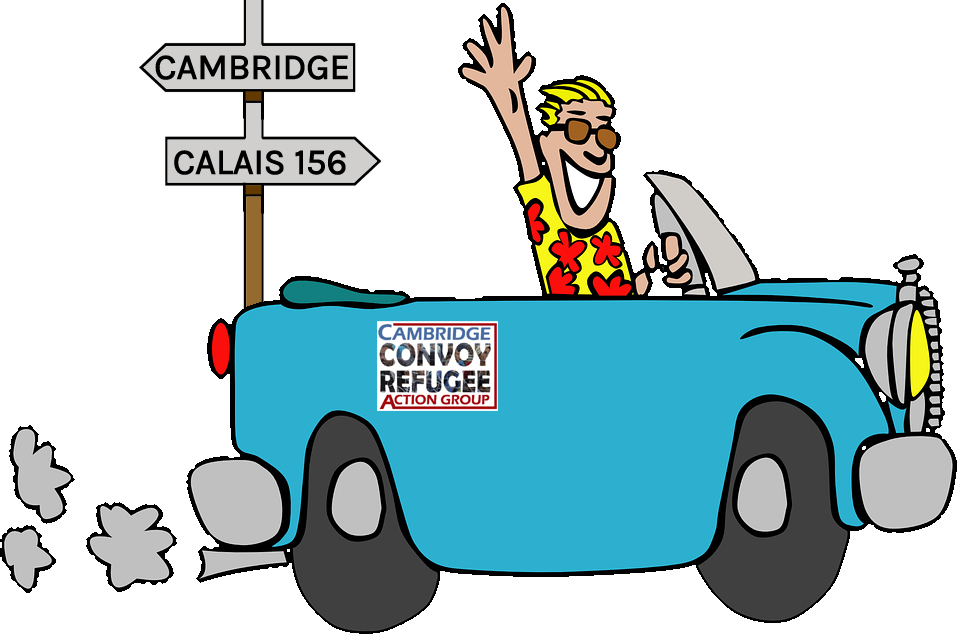 Cartoon car to calais
