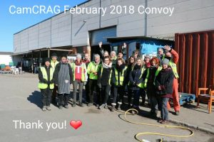CamCRAG volunteers in Calais Feb 2018