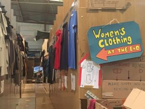 Calais warehouse womens clothing sign