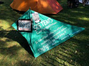 SOS Tent at Folk Festival