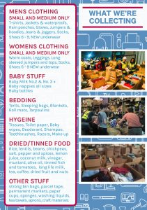 donations drop flyer Histon Oct 2018 back