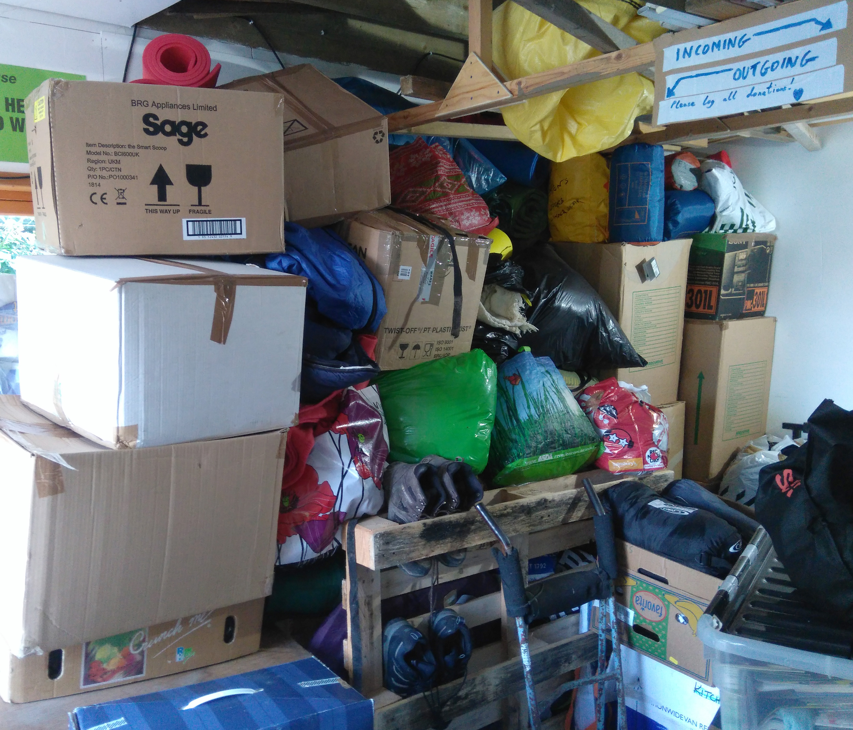 donations in shed
