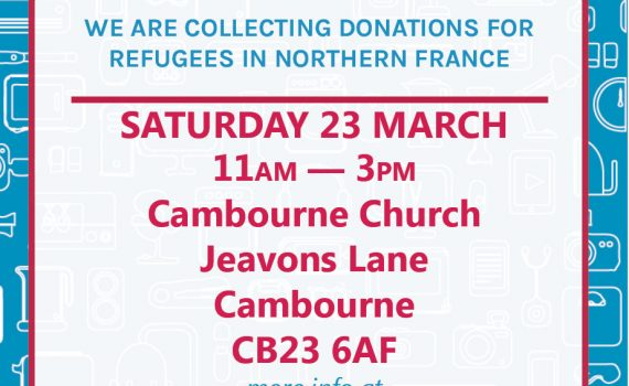 March donation drop flyer