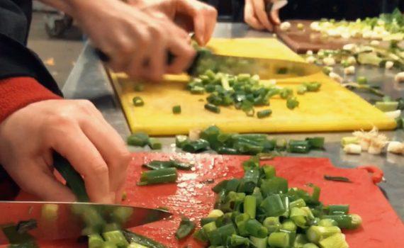 chopping veg in RCK